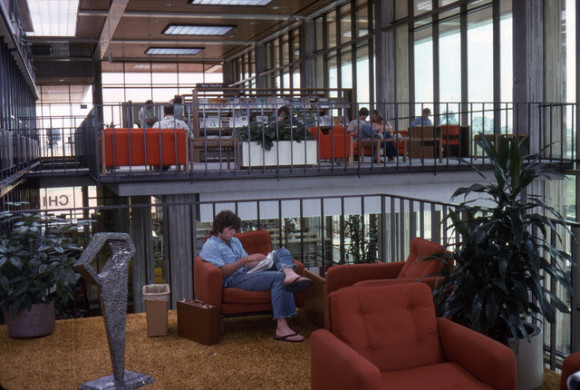 Huntington Beach Central Library. Photo courtesy of Orange County Archives on Flickr