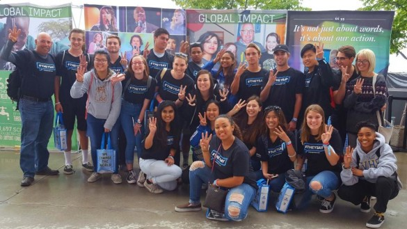 FV's 23 PAL trained students attend WE day, a celebration of youth affecting their communities. Photo courtesy of Marc Trocchio.
