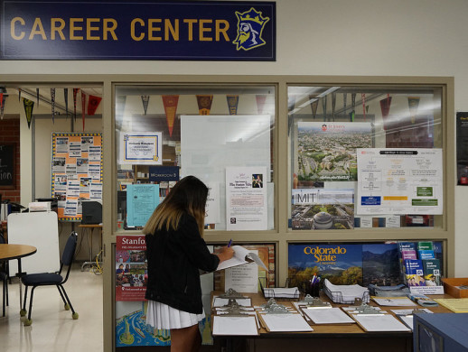 Be sure to visit the college and career center with questions and dates for college visits.