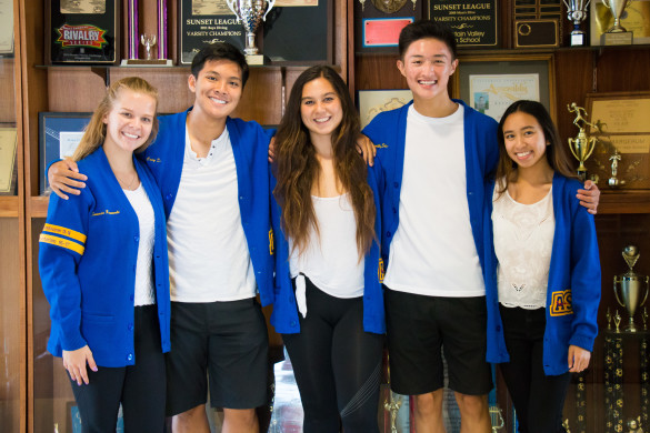 2016-2017 Associated Student Body Executive Board. Photo by Sandra On.