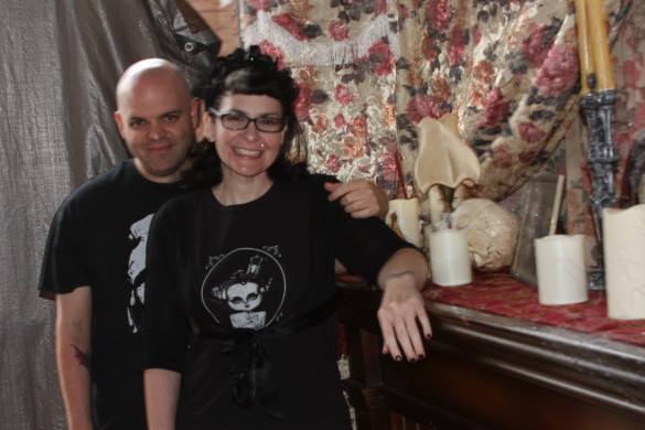 Nicole and Tom Watson, the creators of the Haunt at Daisy Avenue, prepares their haunted house to bring fright to fellow visitors.