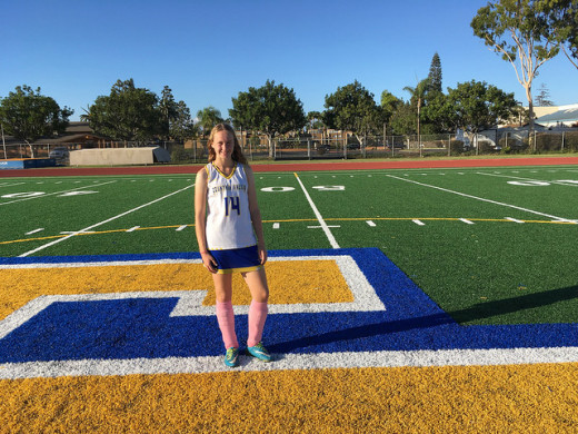 Madison Grogan ('20) stands tall after a hard battle against Edison that ended in the Chargers winning 1-0. Photo by Isabella Purdy