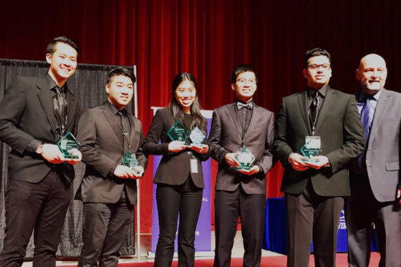Virtual Enterprise with their trophies from the state competition in Bakersfield. Photo courtesy of Sarah McCance.