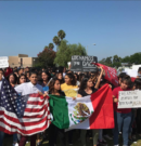 OVHS students exit class in protest of the removal of DACA