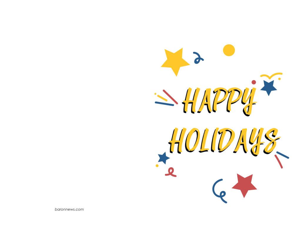 Printable Holiday Cards Baron News